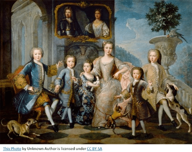 English Gentry by popular US professional genealogists, Price Genealogy: image of an English gentry painting.