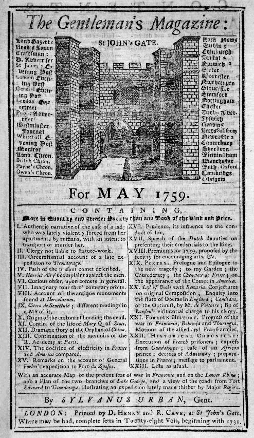 English Gentry by popular US professional genealogists, Price Genealogy: image of a copy of The Gentleman's Magazine.