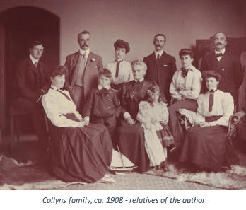 Fighting Against a Pandemic with Family History featured by top US online genealogists, Price Genealogy | Online family history work by popular US online genealogists, Price Genealogy: black and white image of the Collyns family.