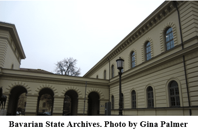 German Genealogy by popular US online genealogists, Price Genealogy: image of the Bavarian State Archives.
