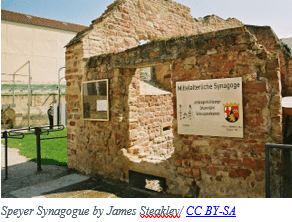 Jewish Genealogy by popular US online genealogists, Price Genealogy: image of Speyer Synagogue.