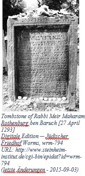 German Genealogy by popular US online genealogists: image of a Rabbi tombstone.
