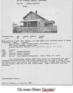 Native American Genealogy by popular US online genealogists, Price Genealogy: image of Chi Mum.