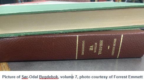Norwegian Genealogy by popular US online genealogists, Price Genealogy: image of a Norwegian book.