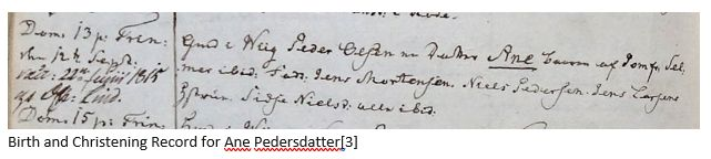 Danish Ancestry by popular US online genealogists, Price Genealogy: image of a Danish birth and christening record.