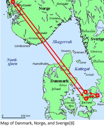 Danish Ancestry by popular US online genealogists, Price Genealogy: image of a map of Denmark.